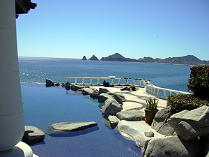 A view of Medano Bay a few miles from Cabo San Lucas, Mexico. More boomers settling into their golden years are finding Mexico an affordable option.