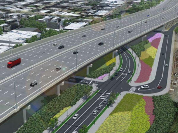 The rendering above shows PennDOT´s proposed design for Richmond and Cambria streets.
