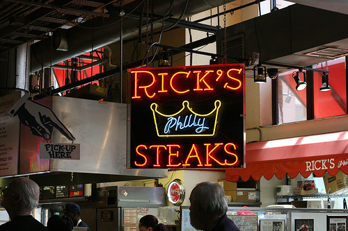 A photo of the old Rick´s Steaks at the Reading Terminal Market