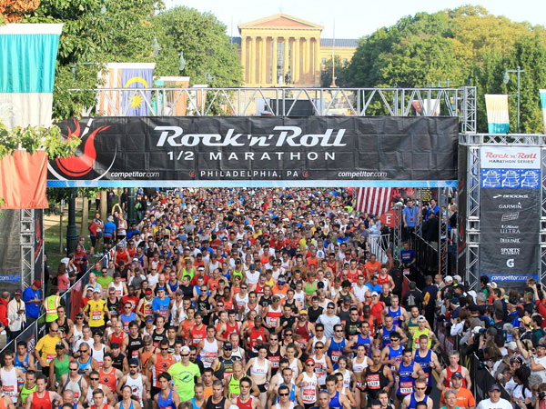 The 2012 Rock ´n´ Roll Half Marathon in Philly.