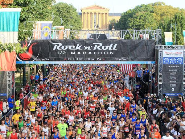 The 2012 Rock ´n´ Roll Half Marathon in Philly.