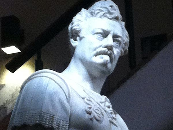 """I found a majestic marble sculpture of Ron Swanson at the Walnut Street Theatre in Philly.""- Reddit user tcmdizzle827"