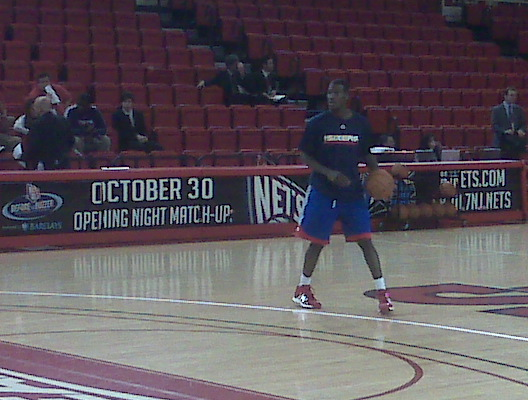 Royal Ivey working out before tonight´s game.