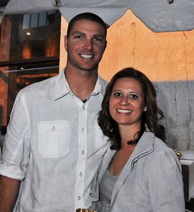 Phillies reliever Ryan Madson and wife Sarah. Photo: HughE Dillon/PhillyChitChat.com