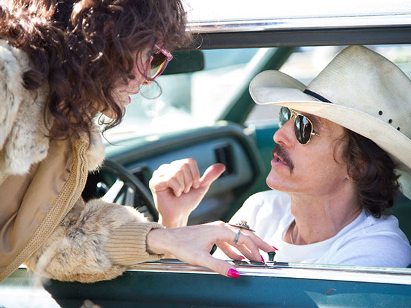 Matthew McConaughey (right) is Ron Woodroof, Jared Leto is Rayon, a transsexual, in the true story of the homophobic AIDS pioneer. (ANNE MARIE FOX)