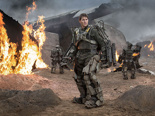 "Tom Cruise is a reluctant soldier battling alien invaders in ""Edge of Tomorrow."" (AP Photo/Warner Bros. Pictures, David James)"
