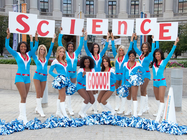 The Science Cheerleaders were instrumental in collecting a diverse set of microbial samples to be launched into space.