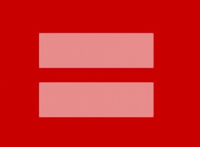 The red equals sign was uploaded to the Human Rights Campaign´s Facebook page on Monday.