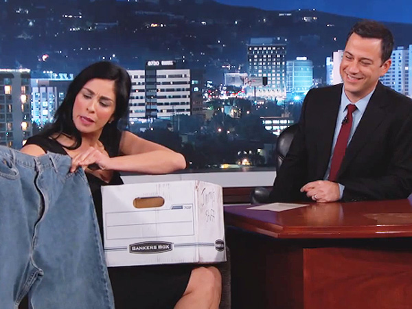 Sarah Silverman pays a visit to ex-boyfriend, Jimmy Kimmel.