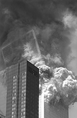 The south tower of the World Trade Center beginning to collapse on Sept. 11, 2001. The Philadelphia law firm Cozen O'Connor filed suit to recover insurance money paid as a result of the terrorist attacks.