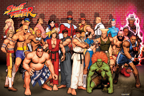 Not the actual street fighters from the melee in Chester Monday night.