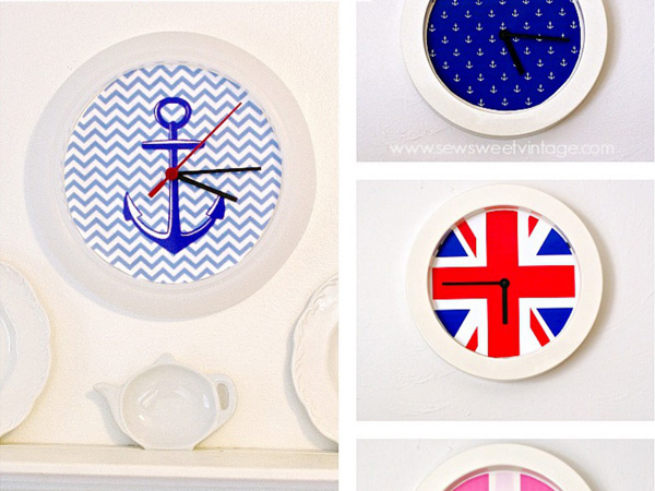 Simple, easy DIY wall clocks made to fit any style!