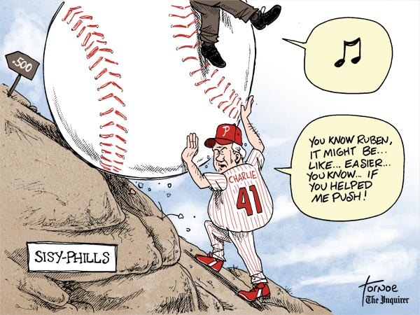 Charlie Manuel Phillies Tornoe cartoon