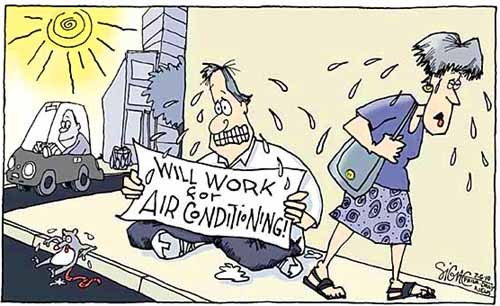 E2P blogger Signe Wilkinson´s take on the heat.