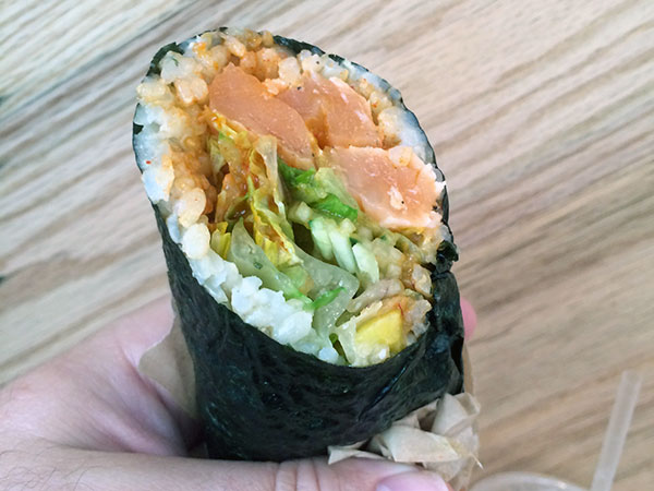 The Slammin&acute; Salmon roll from Hai Street Kitchen &amp; Co. (Craig LaBan/Staff)<br />