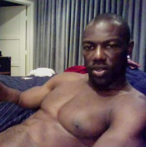 A cropped portion of a photo purported to be Terrell Owens taken through Skype by a woman for whom he was masturbating. She is trying to sell the pictures.