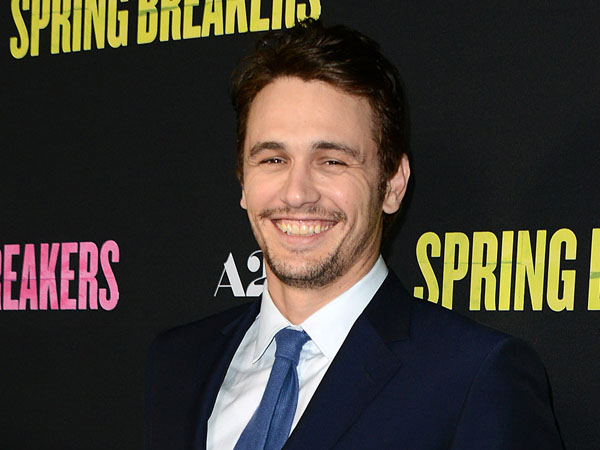 "This March 14, 2013 file photo shows actor James Franco at the LA premiere of ""Spring Breakers"" at the ArcLight Hollywood in Los Angeles. Franco will host and produce ""James Franco Presents,""  a new series debuting in the fall on the Ovation channel. (Photo by Jordan Strauss/Invision/AP, File)"