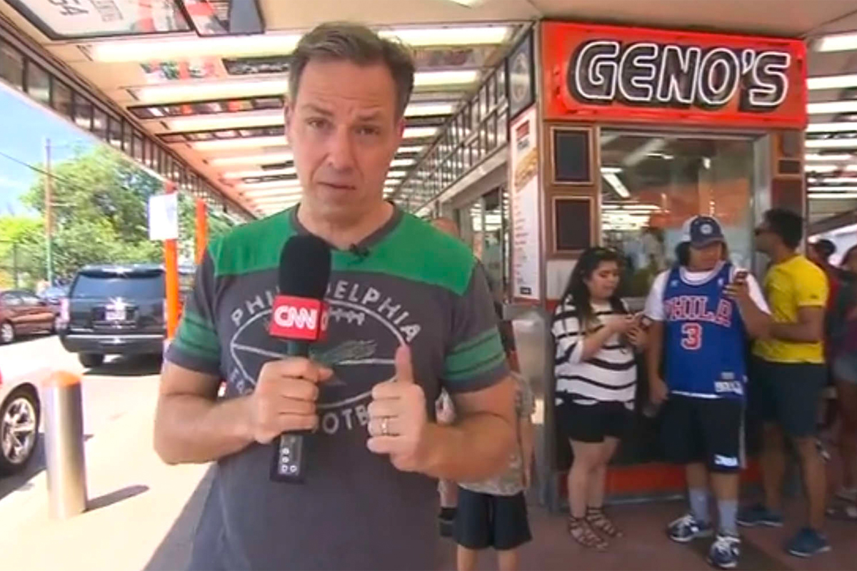 Jake Tapper´s reports from Geno´s Steaks in South Philadelphia during the 2016 Democratic National Convention.