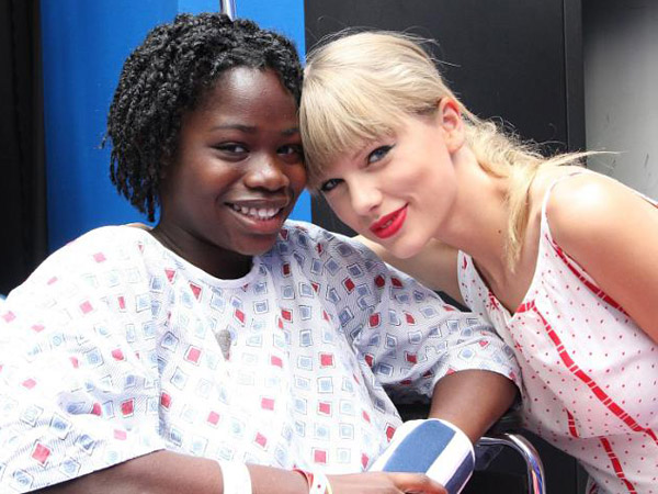 Swift visited patients at CHOP during a Philly tour stop last year.
