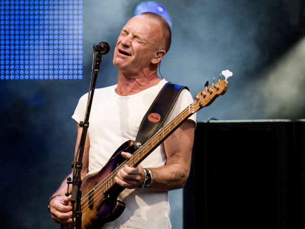 """FILE - This July 19, 2013 file photo shows British singer-songwriter Sting performing at the """"Live at Sunset Festival"""" in Zurich, Switzerland. Sting;´s new musical """"The Last Ship"""" will sail onto Broadway after a stop in Chicago. Producers said Thursday, Sept. 19, that the show – inspired by Sting´s memories growing up in a shipbuilding community in northeast England – will appear on Broadway in the fall of 2014 once it makes its world premiere next summer at Chicago´s Bank of America Theatre. (AP Photo/Keystone,Ennio Leanza, File)"""