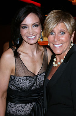 B101´s Tiffany Hill with finance coach Suze Orman at the Gracie Awards