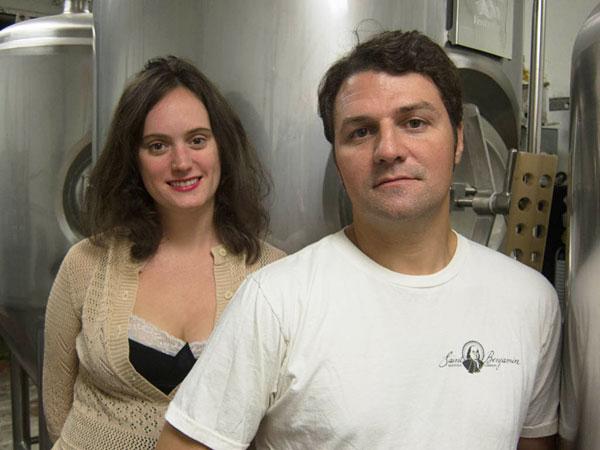 Brewers Christina Burris and Tim Patton at Saint Benjamin.