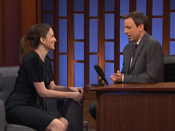 "Tina Fey stops by ""Late Night"""