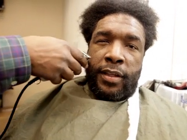 Questlove gets a trim before the big moment from South Philly barber Faheem Alexander.