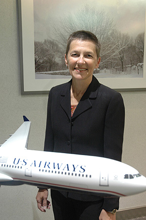 "Suzanne Boda is the highest-ranking executive of US Airways ever based in Philadelphia. Being here, rather than at corporate headquarters in Tempe, Ariz., is ""really critical,"" she said. ""There's no way that you can get everything that's going on if you're sitting in Tempe.""<br />"