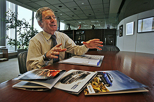 "Tom Doll is the accountant at the helm of Subaru of America Inc., which has  headquarters in Cherry Hill. The firm's game plan for waiting out the downturn is to stress fundamentals, such as extra attentive service. ""Customers have long memories,"" Doll said, ""particularly when times are tight.""<br />"