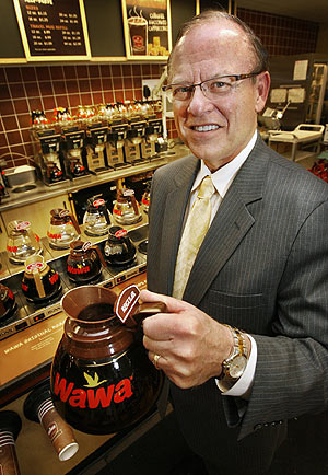 "Wawa chief executive officer Howard Stoeckel says the company tries to make the time a customer spends in its stores a respite from economic gloom. ""People want to feel good,"" he said, ""even if it's for four or five minutes a day when they're on their way to work.""<br />"