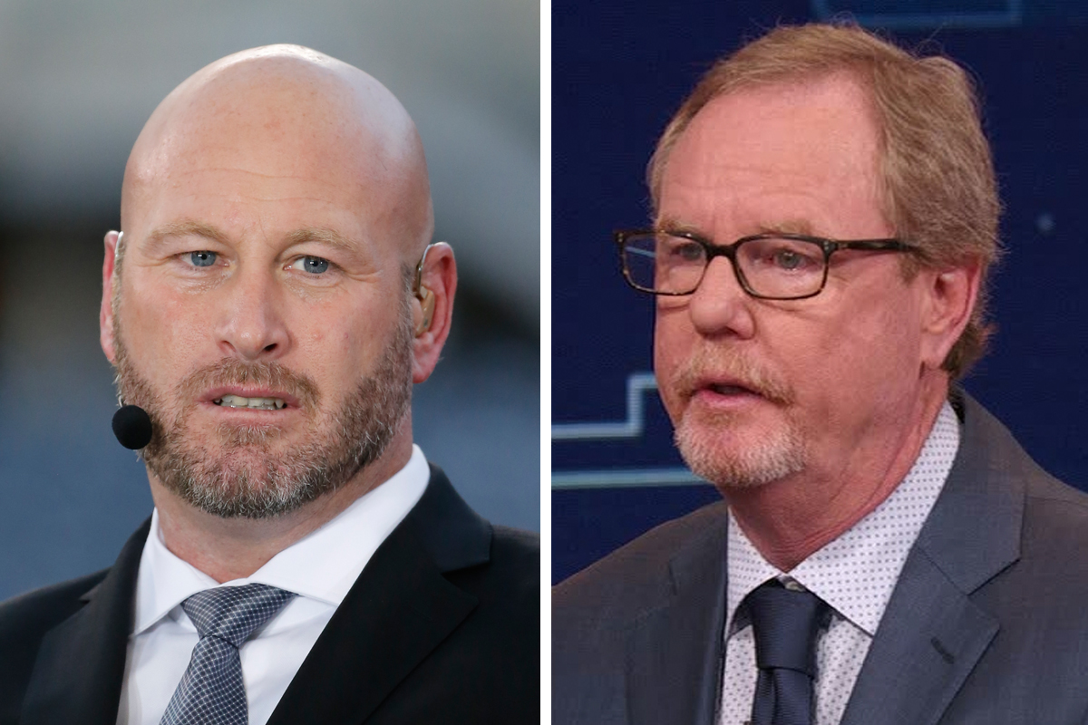 ESPN NFL analyst Trent Dilfer (left) and longtime NFL insider Ed Werder are among the 100 or so expected to lose their jobs today during the network´s latest round of cutbacks.