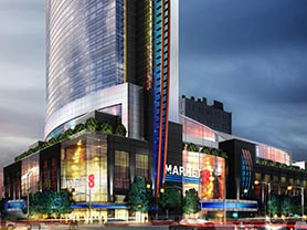 A rendering for the proposed Market8 casino, which will also feature a 4-star hotel, shops and restaurants. (Courtesy image)