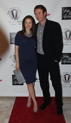 A pregnant Jen Utley with Chase Utley at the Shane Victorino Foundation fashion event in August at the Union League. Photo: Mike Hirata