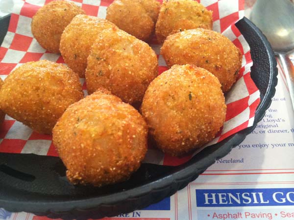 The ultimate hush puppies - from Southern Kitchen in New Market, Va.