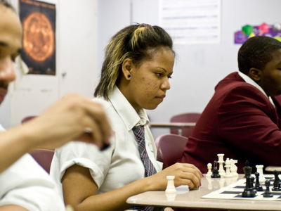 Vanita Young beat out 600 other girls to earn a chance to represent the state at an important chess tourney in Texas. (Jarid Barringer / Staff photographer)