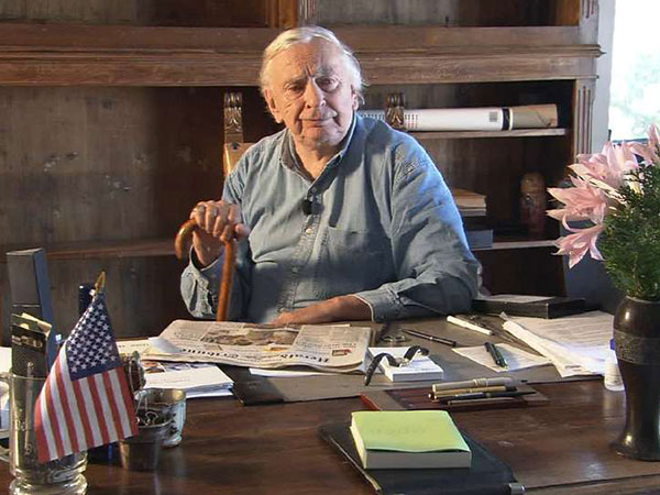 """Gore Vidal in a scene from Nicholas D. Wrathall´s documentary """"Gore Vidal: The United States of Amnesia."""" (courtesy photo)"""
