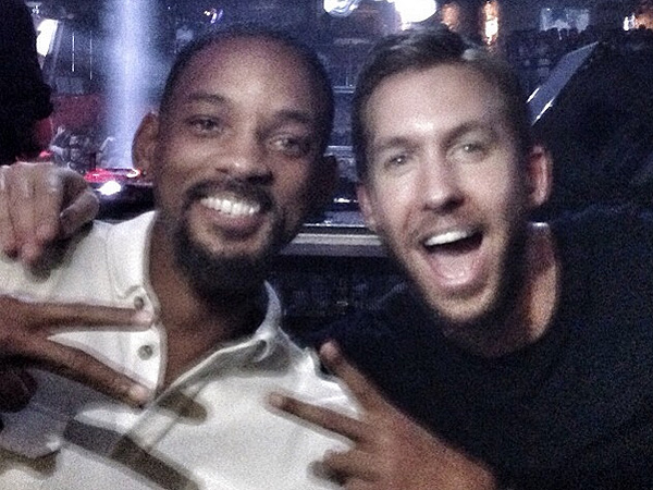 Will Smith hangs out with Calvin Harris in Ibiza.