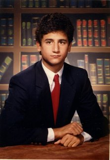 My high school yearbook photo from 1986. Nice hair helmet!
