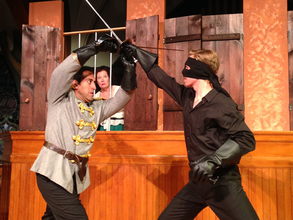 James Rana and Jed Peterson in East Lynne Theater Company´s Zorro! (Photo credit: Cindy Sinilyk)