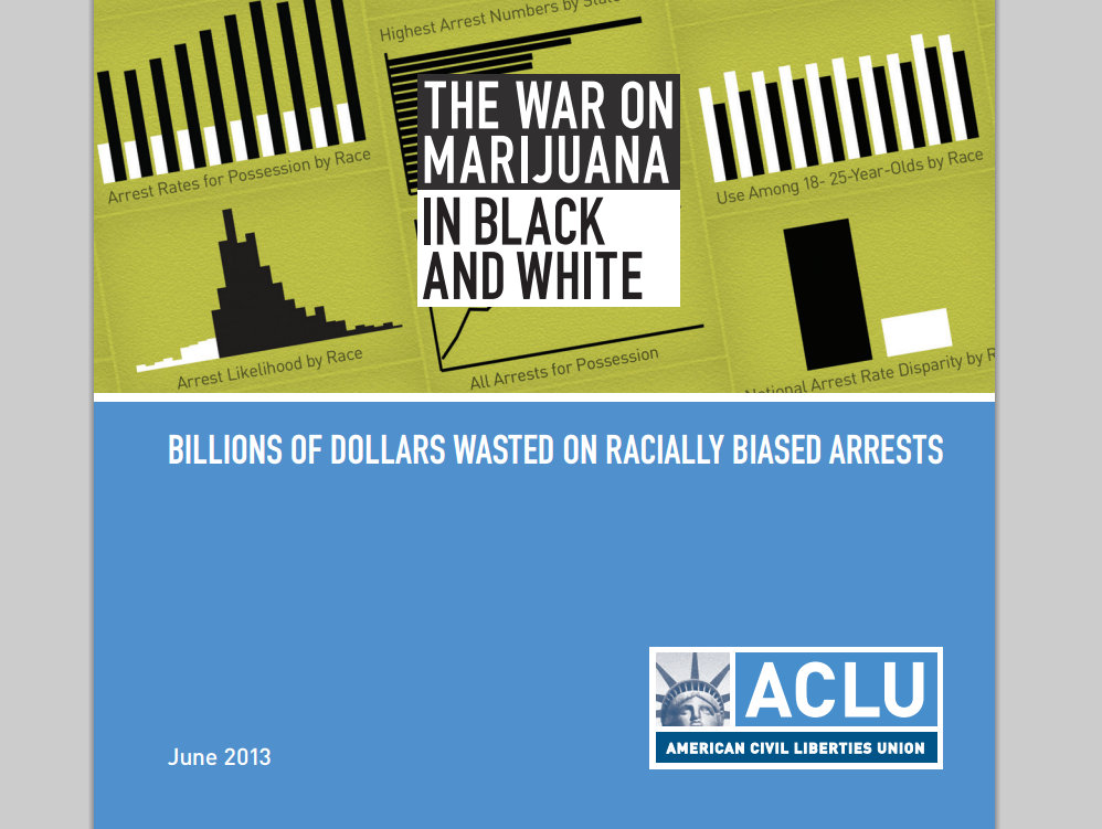 Detail fromt the cover of the ACLU report.
