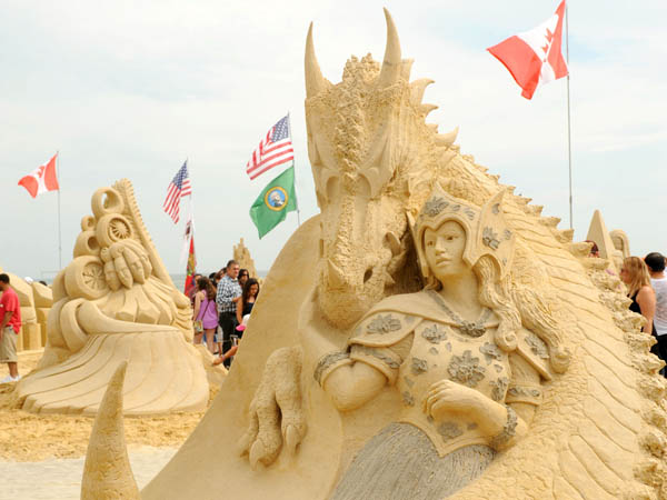 Over 500 tons of sand will be transformed into works of art during the Do AC Sand Sculpting World Cup. (Photo by Peter Tobia/Atlantic City Alliance courtesy of Cashman and Associates)