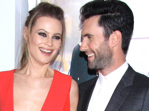 Behati Prinsloo,Adam Levine, The New York premiere of Begin Again at the SVA Theatre - Arrivals.