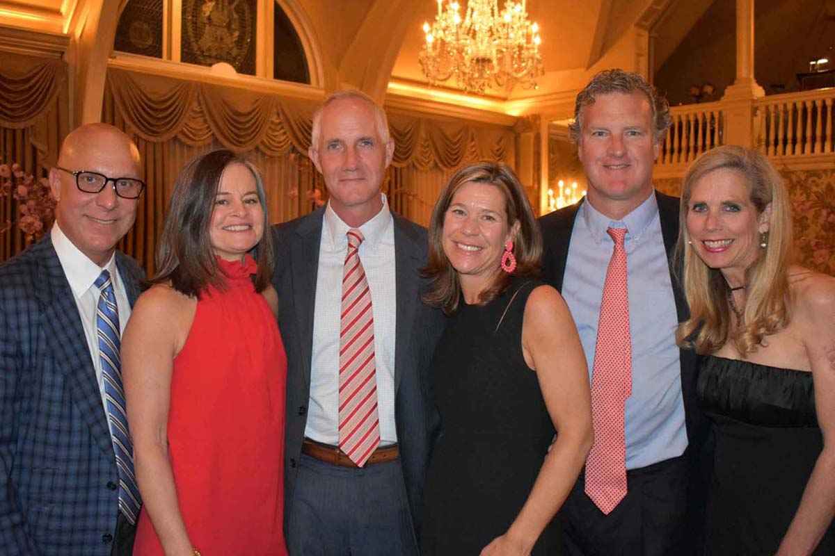 Vince and Kelly Tague, Scott and Kristen Sheffer, and Tom and Suzanne O'Connor at the event at Merion Cricket Club.<br /><br /><br /><br />
