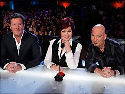 The judges -- Piers Morgan, Sharon Osborne and Howie Mandel (from left) -- couldn;t believe their eyes