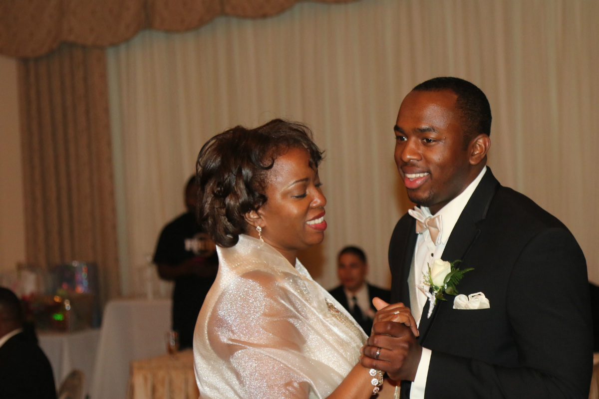 Mother of the groom, Paullita Moore-Hall, and Vincent<br />Hall.