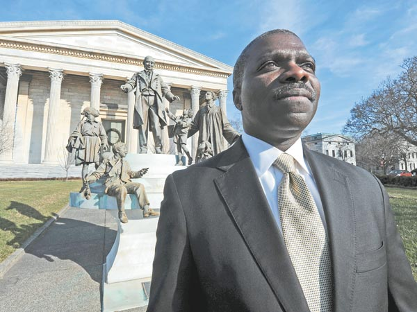Clay Armbrister, president of Girard College, outside of the school on Jan. 9, 2013. (APRIL SAUL / Staff Photographer)