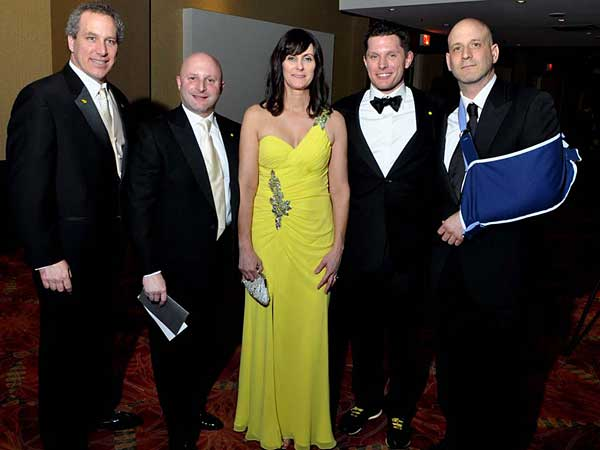 Jay Scott, Jeff Benjamin, Liz Scott, Jeff Michaud and Marc Vetri at the Seventh Annual Lemon Ball hosted by Alex´s Lemonade Stand on Jan. 12, 2013. (AL FOR / Philly.com)