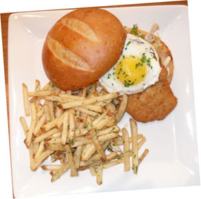 The sandwich, as served at Square 1682 with fries.