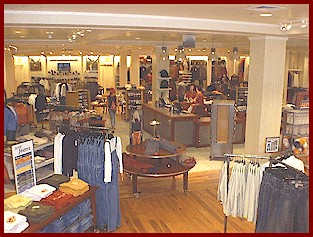 It seeems that American Eagle (pictured here) is more of a hot spot than Abercrombie & Fitch which held teens attention this last decade.